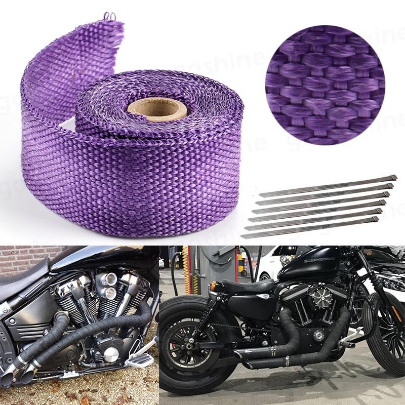 purple 15 feet exhaust header catback turbo manifold downpipe heat wrap replacement parts hauglegesenter exhaust emissions