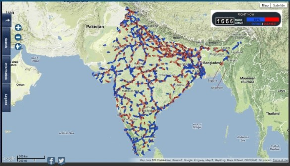 Live Running Status of all Trains in India on a Map      24 Coaches Railyatri and Railradar Trainenquiry All India train map