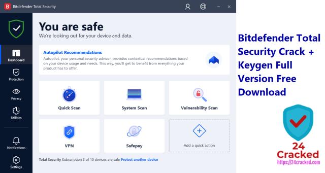 Bitdefender Total Security Crack + Keygen Full Version Free Download