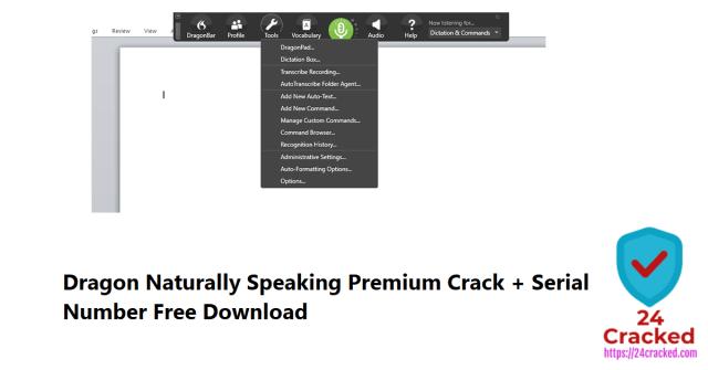 Dragon Naturally Speaking Premium Crack + Serial Number Free Download