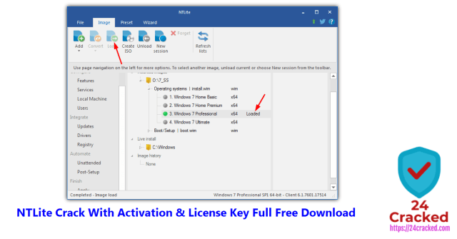 NTLite Crack With Activation & License Key Full Free Download