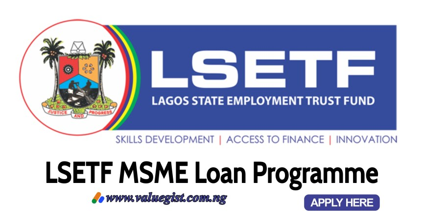 LSETF MSME Loan Programme 2021 Application Form | Lagos State Employment Trust Fund