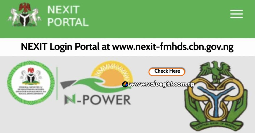 NEXIT Login Portal at www.nexit-fmhds.cbn.gov.ng | Check List of Selected Candidates Here