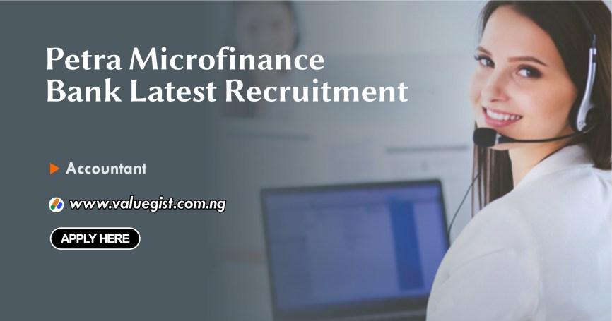 Petra Microfinance Bank Latest Recruitment – Apply Now!