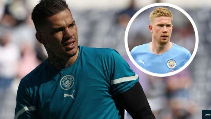 VERY FUNNY!! Man City Goalkeeper Ederson Wants To Replace De Bruyne In Midfield