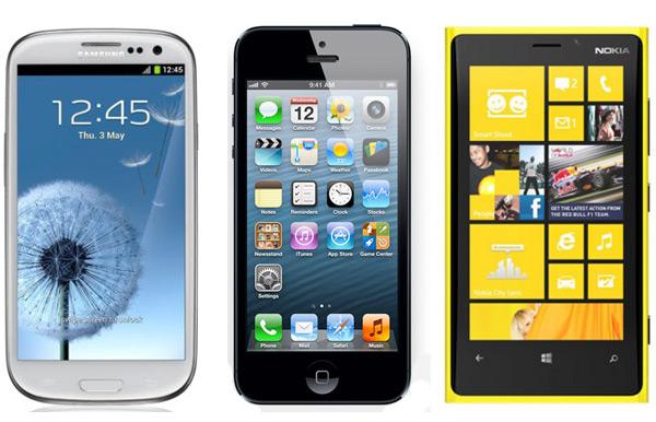 Сравнение характеристик iPhone 5, Galaxy SIII и Lumia 920