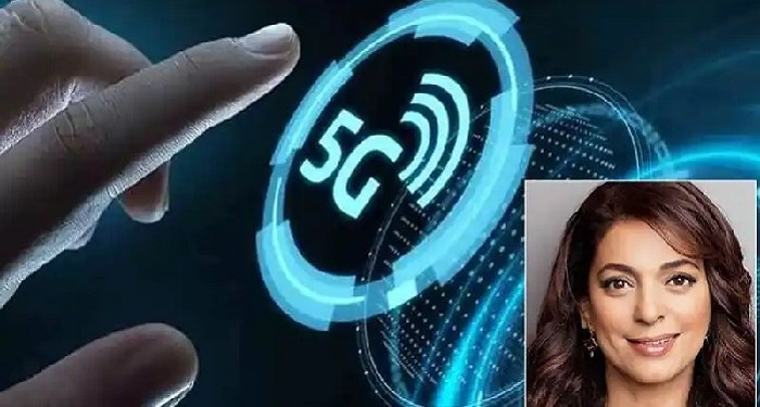 Juhi Chawla arrives at Delhi High Court to stop 5G network
