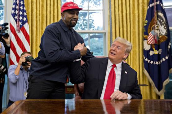 Kanye West And With Trump Meets