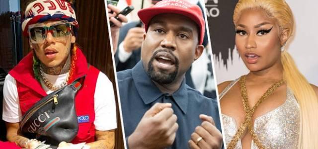 Shots Fired on 6ix9ine, Kanye West & Nicki Minaj Video