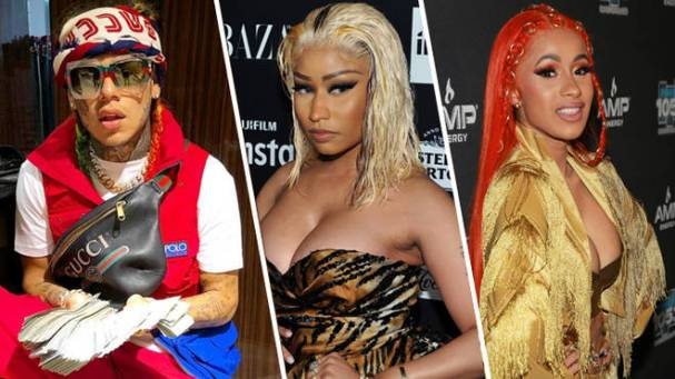 6ix9ine Hires Bartenders Suing Cardi B for Assault