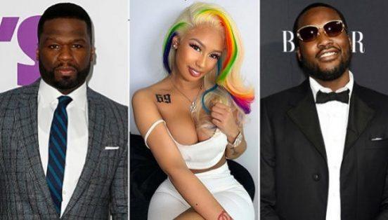 50 Cent And Meek Mill Clown 6ix9ines Girlfriend Over Tattoo