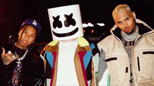 "Stream Chris Brown & Tyga feat. Marshmello ""Light It Up"""