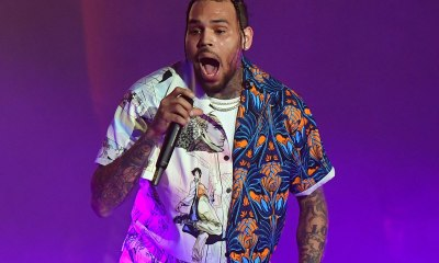 Chris Brown Debuts New Air Jordan III Face Tattoo