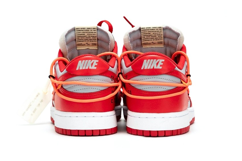 "Off-White™ x Nike Dunk Low ""University Red"" Rumored to Drop Next Month"
