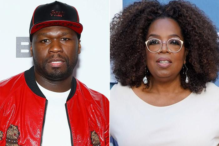 50 Cent Clowns Oprah For Falling On Stage During her Speech