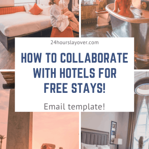 how to collaborate with hotels for free stays!