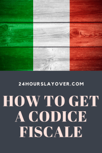 how to get a codice fiscale