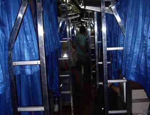overnight sleeper train Bangkok to Chiang mai Thailand