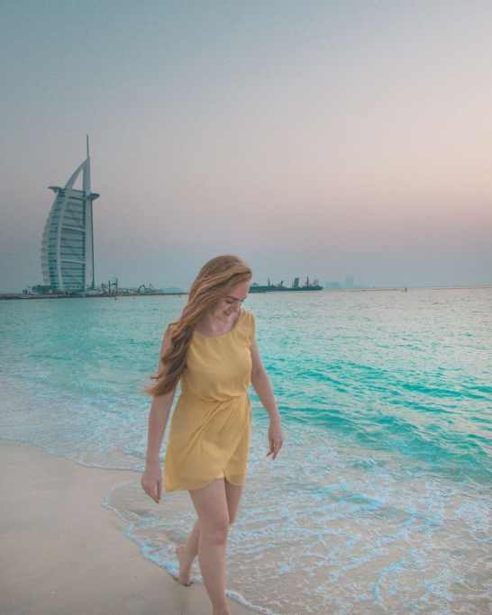 Burj al arab sunset beach