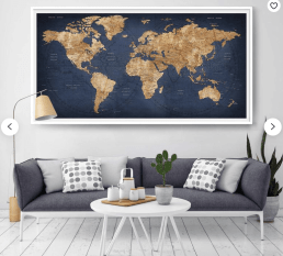 gifts for flight attendants world map