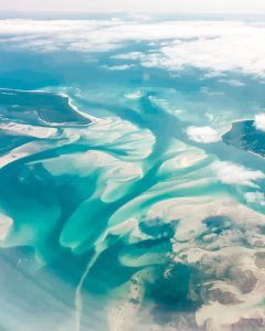 areal view north Stradbroke island Brisbane Australia