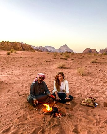 wadi rum sunrise bedouin tea