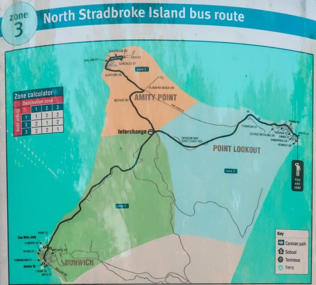 north Stradbroke island bus timetable route