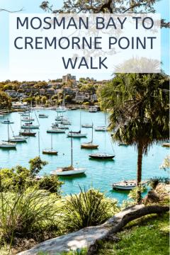 Mosman bay to Cremorne point walk