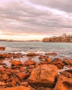 freshwater beach Sydney sunset