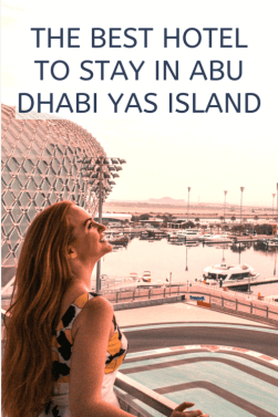 the best place to stay in yas island Abu Dhabi