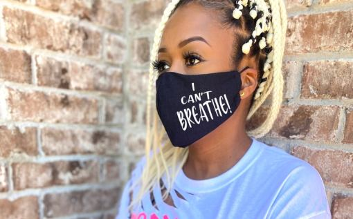 BLM Black Lives Matter Facemask I Can't Breathe