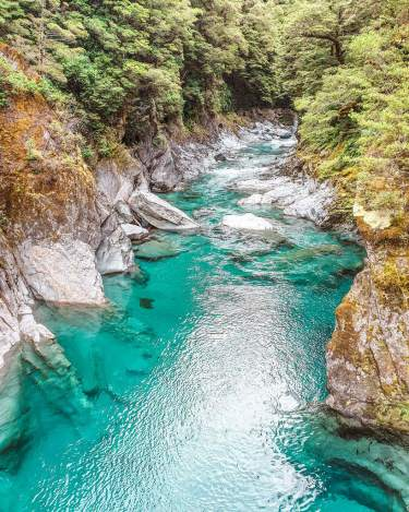 haast blue lake New Zealand South Island