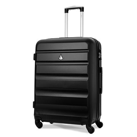 Black Medium Size Suitcase