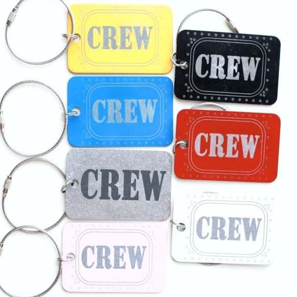 crew bag tag