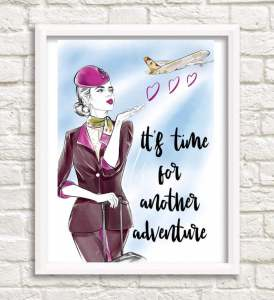 shopplanejane travel prints flight attendant