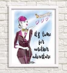 shopplanejane travel prints flight attendant