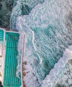 bondi beach icebergs swimming ocean pool sydney drone aerial photography