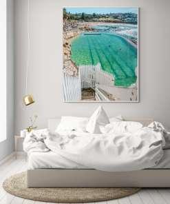 Bronte baths ocean pool aerial drone photography Sydney
