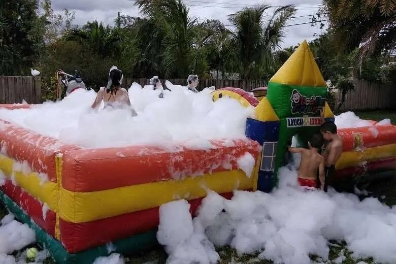 foam party castle
