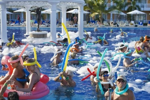 Foam-machine-party-at-a-resort-pool