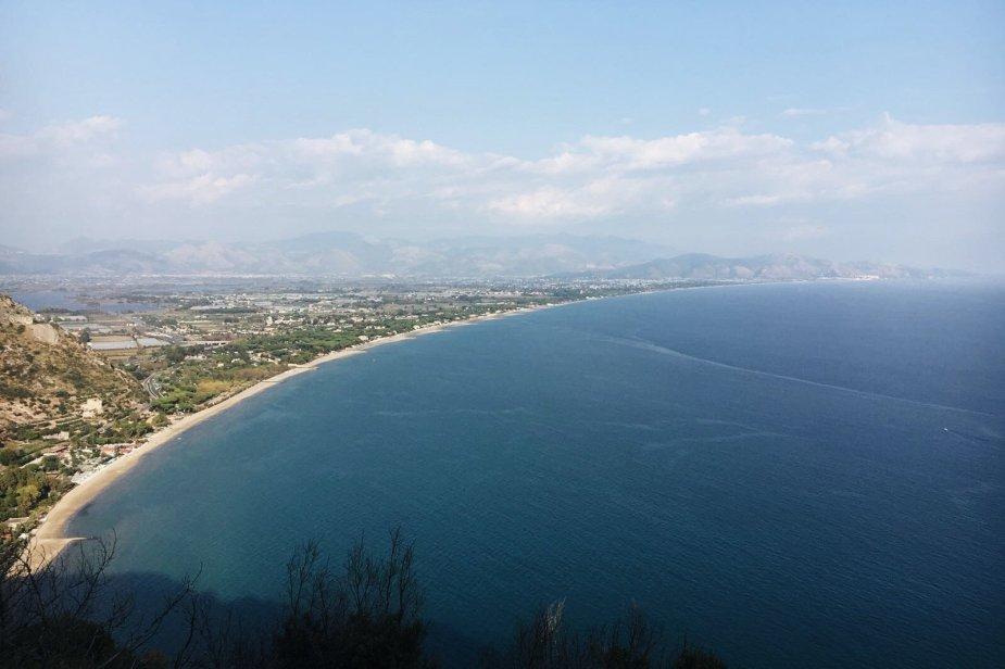 vista dal tempio di Giove Anxur a Terracina