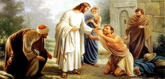 Luk 5:12-16 Yesus menyembuhkan seorang yang sakit kusta.