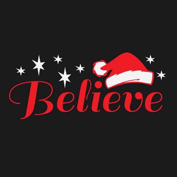 Believe Santa T Shirt 24 Hour Tees