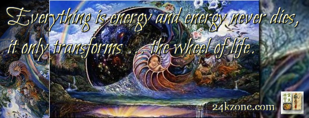 Everything is energy and energy never dies