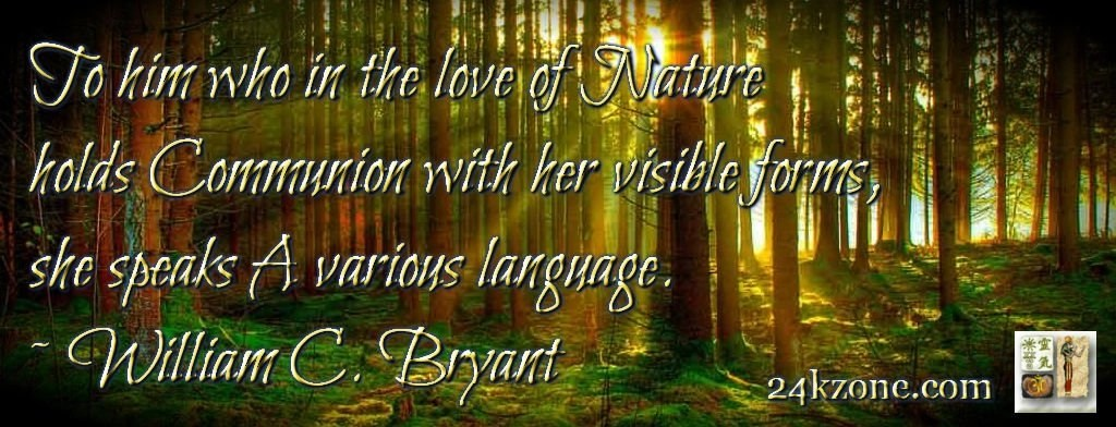 in the love of Nature holds Communion