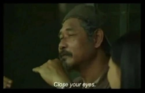 Close your eyes