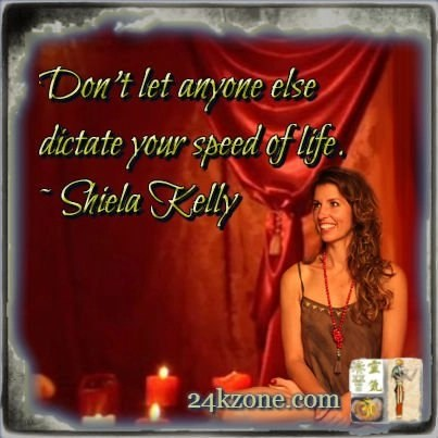 Don't let anyone else dictate your speed of life
