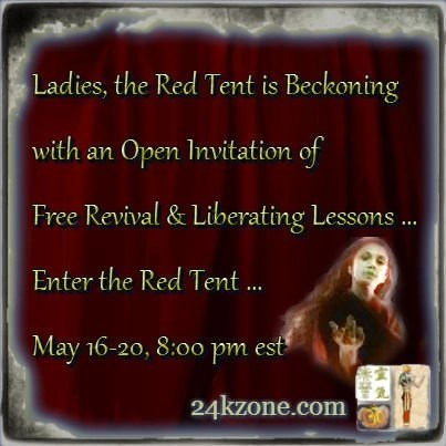 Ladies the Red Tent is Beckoning