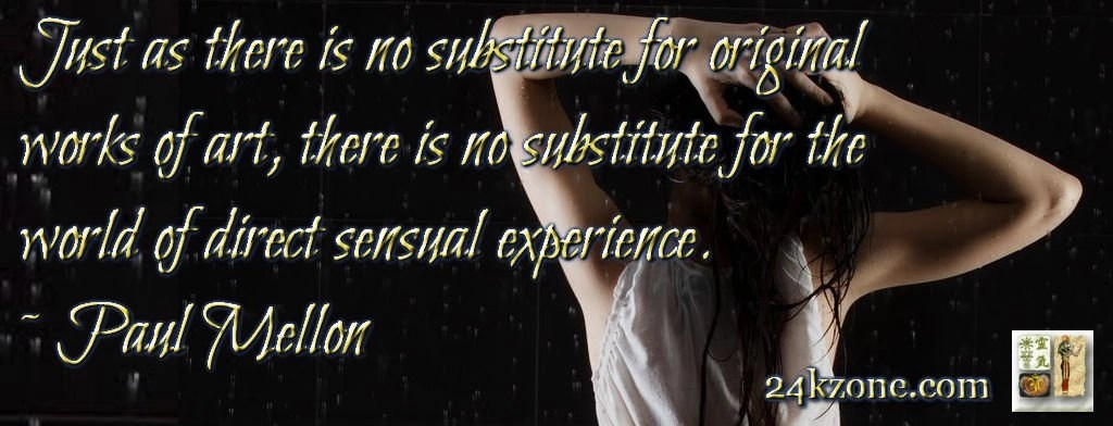 There is no substitute for the world of direct sensual experience