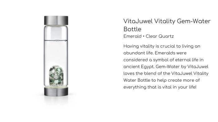 GEM WATER VITAJUWEL Vitality Gem-Water Bottle